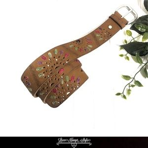 Lucky Brand | Buffalo Leather Boho Tan Belt Size S